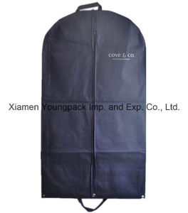 Personalized Custom Printed Navy Blue Non-Woven PP Suit Cover Garment Bag pictures & photos