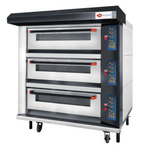 Commercial Bakery Equipment 3 Deck/9 Tray Electric Oven with Wire-Heating pictures & photos