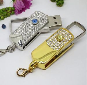 Hot Jewellry Diamond Wedding Gift USB Flash Disk Thumb Drive pictures & photos