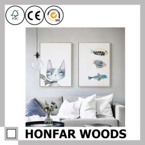 Black Wood Painting Poster Frame for Hotel Guest Room Project pictures & photos