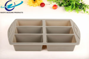 Long Square Shape Big Size Silicone Handmade Soap Mould 6 Cavity