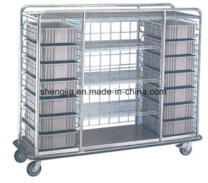 Sjt096 Luxurious Stainless Steel Goods Delivering Cart