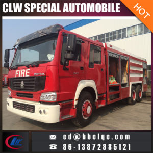 HOWO 6X4 Emergency Rescue Truck Right Hand Drive Fire Truck pictures & photos
