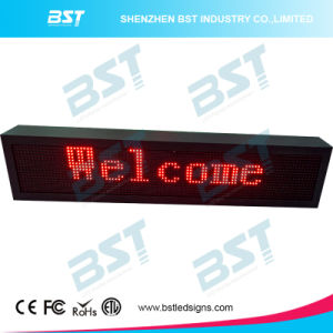 P10mm Red Color Outdoor Programmable LED Message Sign pictures & photos