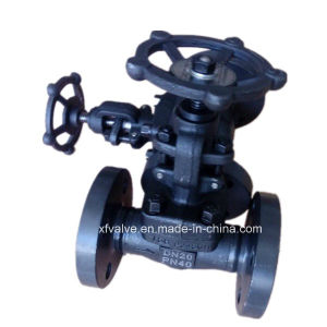 Forged Carbon Steel A105 Flange Connection End Globe Valve pictures & photos