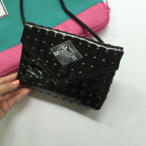 Fashion Black PU Hasp Ladies Hand Bag (M009-18)