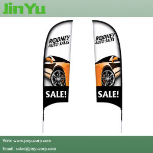 2.6m Feather Beach Flag Banner with Ground Spike pictures & photos