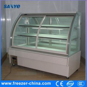 Arc Marble Curve Glass Cake Display Cooler pictures & photos