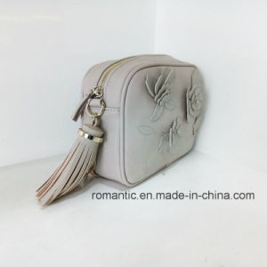 New Arrival Lady Embossed PU Flower Leather Tassel Handbags (NMDK-033101) pictures & photos