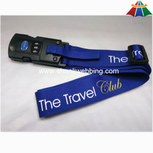 """High-Quality Nylon 2"""" Solid Blue Color Luggage Strap with 3 Dails Digital Display Lock & Double Protection pictures & photos"""