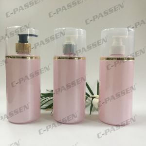 250ml Pink Plastic Packaging Pet Bottle with Lotion Pump (PPC-PB-070) pictures & photos