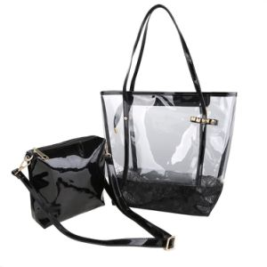Women Transparent Clear PVC Beach Shoulder Messenger Swimming Tote Bag pictures & photos