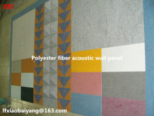 Pet Fiber Sound Absorbing Wall Decorative Acoustic Panel Wall Panel Ceiling Panel Detective Panel pictures & photos