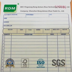 Customized Invoice Book Made From Woodfree Paper or Carbonless Paper pictures & photos