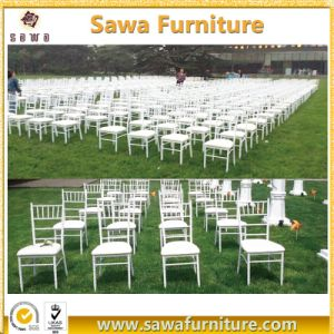 Wedding Used Stacking Metal Chiavari Chair with Cushion pictures & photos