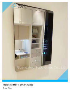 70% Reflectivity No Ghosting Frameless Magic Mirror Glass (S-F7) pictures & photos
