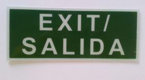 PVC Exit Sign pictures & photos