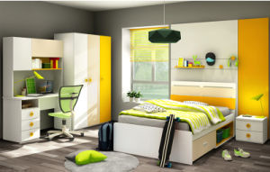 Popular Modern Kids Furniture Colorful Wooden Bedroom Furniture (Wright) pictures & photos