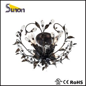 Black Classical Indoor Iron Ceiling Lamp pictures & photos