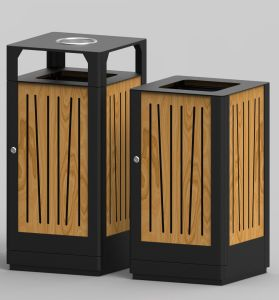 European Style Outdoor Waste Bin From Shining Factory (HW-526) pictures & photos