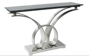 Stainless Steel +Marble Top Console Table (GJ065)