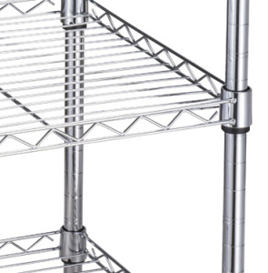 Two Basket 3 Tiers Wire Shelving Display Wire Cart pictures & photos