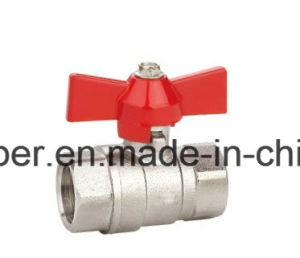Brass Ball Valve with Aluminium Butterfly Handle pictures & photos