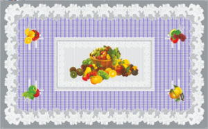 Waterproof Oilproof Feature PVC Printed Transparent Tablecloth of Independent Design 90*145cm (TJ 0023) pictures & photos