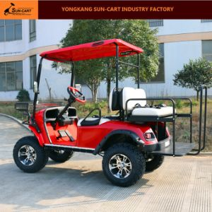 4 Passenger Electric Hunting Golf Cart (Rear back folding seats) pictures & photos