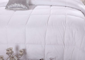 White Color Siliconized Fiber Filled Hotel Quilt pictures & photos