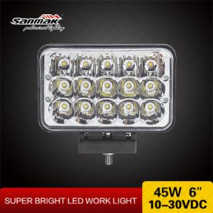 High Low Sealed Beam 4X6 45W LED Work Light Headlight pictures & photos