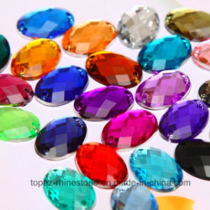 Wholesale Oval Sew-on Flat Back Acrylic Rhinestones Acrylic Bead (SW-Oval 10*14mm in colors) pictures & photos