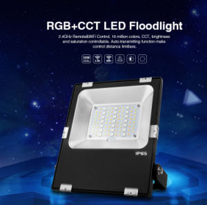 30W Mobile APP Controlled Philip LED RGB+CCT Smart Floodlight (FUTT03) pictures & photos