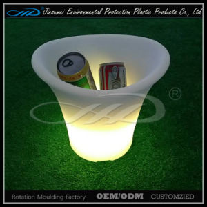 Rotational Moulding Plastic LED Ice Bucket with BV pictures & photos