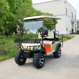 Four Seater Electric off Road Golf Cart with Front Basket pictures & photos