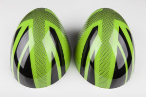 Brand New ABS Plastic UV Protected Sporty Style Green Union Jack Color with High Quality Carbon Mirror Covers for Mini Cooper R56-R61 pictures & photos