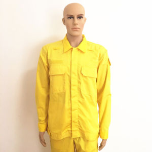 Hubei Manufacture Shiny Yellow Heavy Fr Anti-Acid Workwear pictures & photos