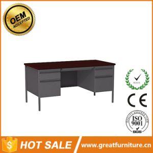 Double Pedestal Durable Wooden Surface Office Computer Desks, Steel Desk pictures & photos