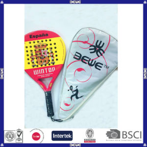 Carbon Composite and Fiberglass with Soft EVA Material Paddle Racket pictures & photos