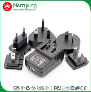 Factory Direct Sale 5V 1A AC DC Adapters Cec DOE Power Adapter pictures & photos
