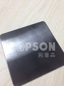 Stainless Steel Sheet for Decoration No. 4 Satin Hairline Finish PVD pictures & photos