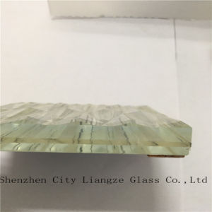 10mm+Silk+5mm Ultra Clear Laminated Glass/Tempered Glass/Safety Glass for Decoration pictures & photos