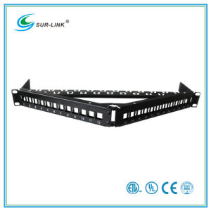 24 Port Blank Patch Panel Angle Shape Fit for UTP Keystone Jack pictures & photos
