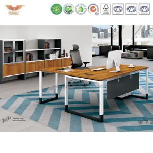 Modern Office Furniture L Shape Wooden Executive Desk (H90-0102)