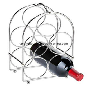 Home Decor 5 Bottle Metal Wine Rack for Storage pictures & photos