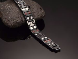 Black Gun Plated Titanium Bracelets for Man with Double Row pictures & photos