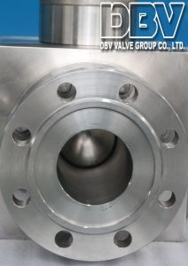 Industrial Stainless Steel 3 Ways Flange Floating Ball Valve pictures & photos