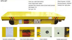 Customize Rail Electric Trolley on Painting Line for Transport Heavy Cargo pictures & photos