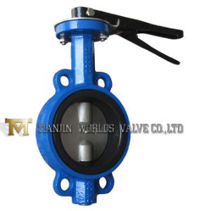 Notch Plate Wafer Butterfly Valve pictures & photos