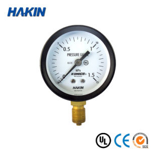 Black Steel Case Gas Meter Black Steel Case Vacuum Pressure Gauge